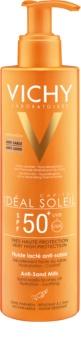 Vichy Idéal Soleil Capital opaľovacie mlieko odpudzujúce piesok SPF 50+