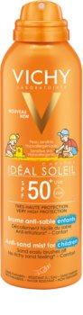 Vichy Idéal Soleil Capital jemný ochranný sprej odpudzujúci piesok pre deti SPF 50+