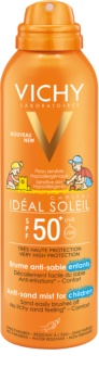 Vichy Idéal Soleil Capital nežno zaščitno pršilo proti pesku za otroke SPF 50+