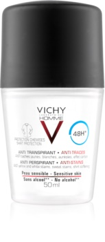 Vichy Homme Deodorant dezodor roll-on a fehér és sárga foltok ellen 48h