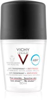 Vichy Homme Deodorant dezodorant roll-on proti belim in rumenim madežem 48 ur