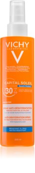 Vichy Capital Soleil Beach Protect többszörös védelmet nyújtó spray a dehidratáció ellen SPF 30