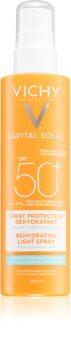 Vichy Capital Soleil Beach Protect spray multi protector împotriva deshidratării pielii SPF 50+