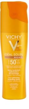 Vichy Idéal Soleil Bronze Feuchtigkeitsspendendes Spray zur Verbesserung der Bräunung SPF50+