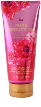 Victoria's Secret Pure Seduction Red Plum & Fresia tělový krém pro ženy 200 ml