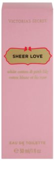 Victoria's Secret Sheer Love White Cotton & Pink Lily Eau de Toilette for Women 30 ml