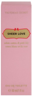 Victoria's Secret Sheer Love White Cotton & Pink Lily eau de toilette nőknek 30 ml