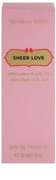 Victoria's Secret Sheer Love White Cotton & Pink Lily toaletní voda pro ženy 30 ml