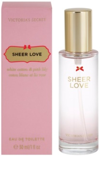 Victoria's Secret Sheer Love White Cotton & Pink Lily Eau de Toilette voor Vrouwen  30 ml