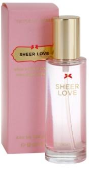 Victoria's Secret Sheer Love White Cotton & Pink Lily Eau de Toilette für Damen 30 ml