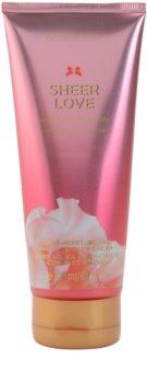 Victoria's Secret Sheer Love White Cotton & Pink Lily crème corps pour femme 200 ml