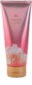 Victoria's Secret Sheer Love White Cotton & Pink Lily telový krém pre ženy