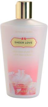 Victoria's Secret Sheer Love White Cotton & Pink Lily testápoló tej nőknek 250 ml