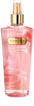 Victoria's Secret Sheer Love White Cotton & Pink Lily spray do ciała dla kobiet 250 ml