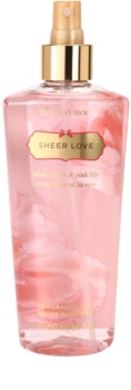 Victoria's Secret Sheer Love White Cotton & Pink Lily спрей за тяло за жени 250 мл.