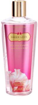 Victoria's Secret Sheer Love White Cotton & Pink Lily sprchový gel pro ženy 250 ml