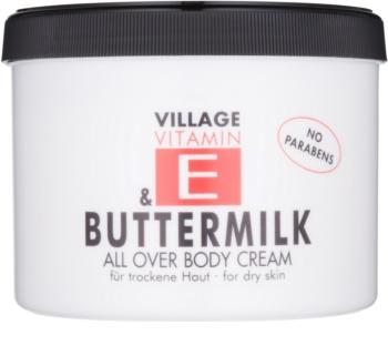 Village Vitamin E Buttermilk tělový krém