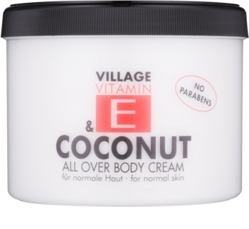 Village Vitamin E Coconut crema de corp