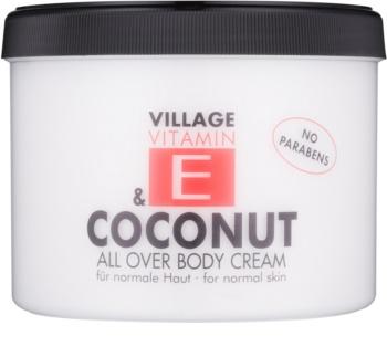 Village Vitamin E Coconut tělový krém
