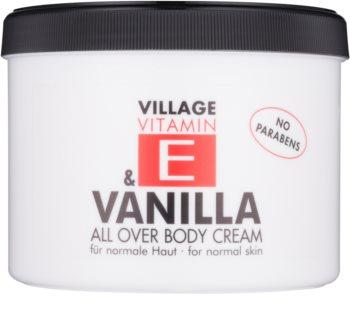 Village Vitamin E Vanilla tělový krém