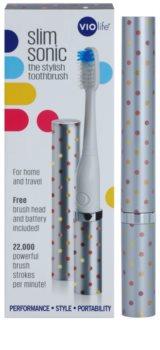 Violife Slim Sonic Silver Dots cepillo de dientes sónico eléctrico con cabezal de recambio