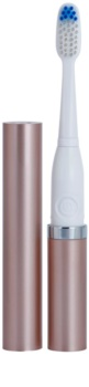 Violife Slim Sonic Rose Gold Battery-Powered Sonic Toothbrush with Replacement Head