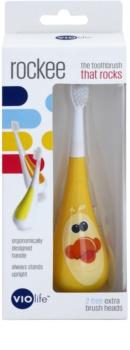 Violife Rockee Quackie zubná kefka pre deti + 2 náhradné hlavice
