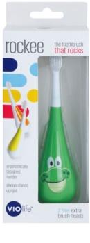Violife Rockee Ribbit zubní kartáček pro děti + 2 náhradní hlavice