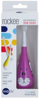 Violife Rockee Whiskers cepillo de dientes para niños  + 2 cabezales de recambio