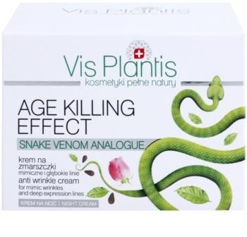 Vis Plantis Age Killing Effect crema de noche antiarrugas  con veneno de serpiente
