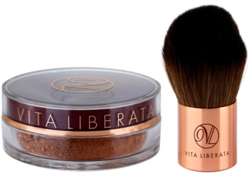 Vita Liberata Trystal Minerals bronzujúci púder so štetčekom