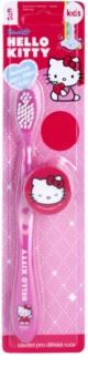 VitalCare Hello Kitty zubní kartáček pro děti s cestovní krytkou