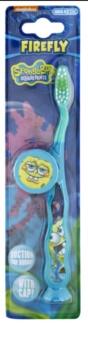 VitalCare SpongeBob szczoteczka do zębów dla dzieci z osłonką podróżną soft