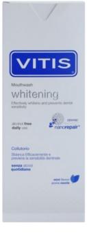 Vitis Whitening enjuague bucal con efecto blanqueador para dientes sensibles