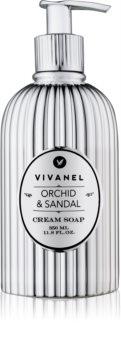 Vivian Gray Vivanel Orchid & Sandal krémové mýdlo