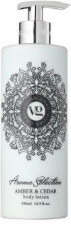 Vivian Gray Aroma Selection Amber & Cedar losjon za telo