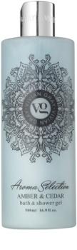 Vivian Gray Aroma Selection Amber & Cedar Dusch- und Badgel