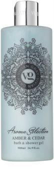 Vivian Gray Aroma Selection Amber & Cedar sprchový a kúpeľový gél