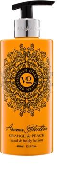 Vivian Gray Aroma Selection Orange & Peach mlieko na ruky a telo