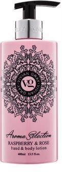 Vivian Gray Aroma Selection Raspberry & Rose mléko na ruce a tělo