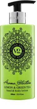 Vivian Gray Aroma Selection Lemon & Green Tea loção corporal e para mãos