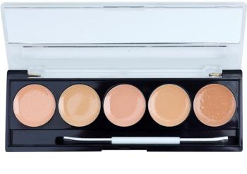 W7 Cosmetics Camouflage Kit paleta korektorů se zrcátkem a aplikátorem