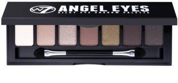 W7 Cosmetics Angel Eyes Out on the Town paleta očních stínů se zrcátkem a aplikátorem