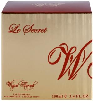 Wajid Farah Le Secret Eau de Parfum para mulheres 100 ml
