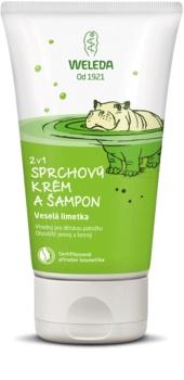 Weleda Kids Cheerful Lime douchecrème en shampoo voor kinderen 2 in 1