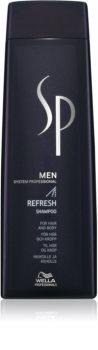 Wella Professionals SP Men osviežujúci šampón na vlasy a telo