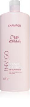 Wella Professionals Invigo Blonde Recharge shampoo per la protezione della tinta per capelli biondi