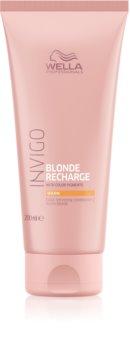 Wella Professionals Invigo Blonde Recharge hajszínélénkítő kondicionáló szőke hajra