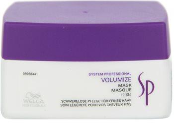 Wella Professionals SP Volumize maska pro jemné a zplihlé vlasy