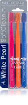 White Pearl 7600+ SoftClean Soft Toothbrushes 3 pcs